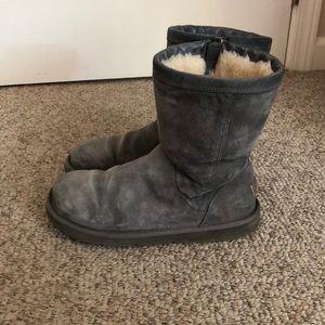 Ugg Australia grey Roslynn short sheepskin boots 9